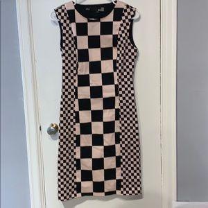 Love Moschino Sleeveless Checkered Dress